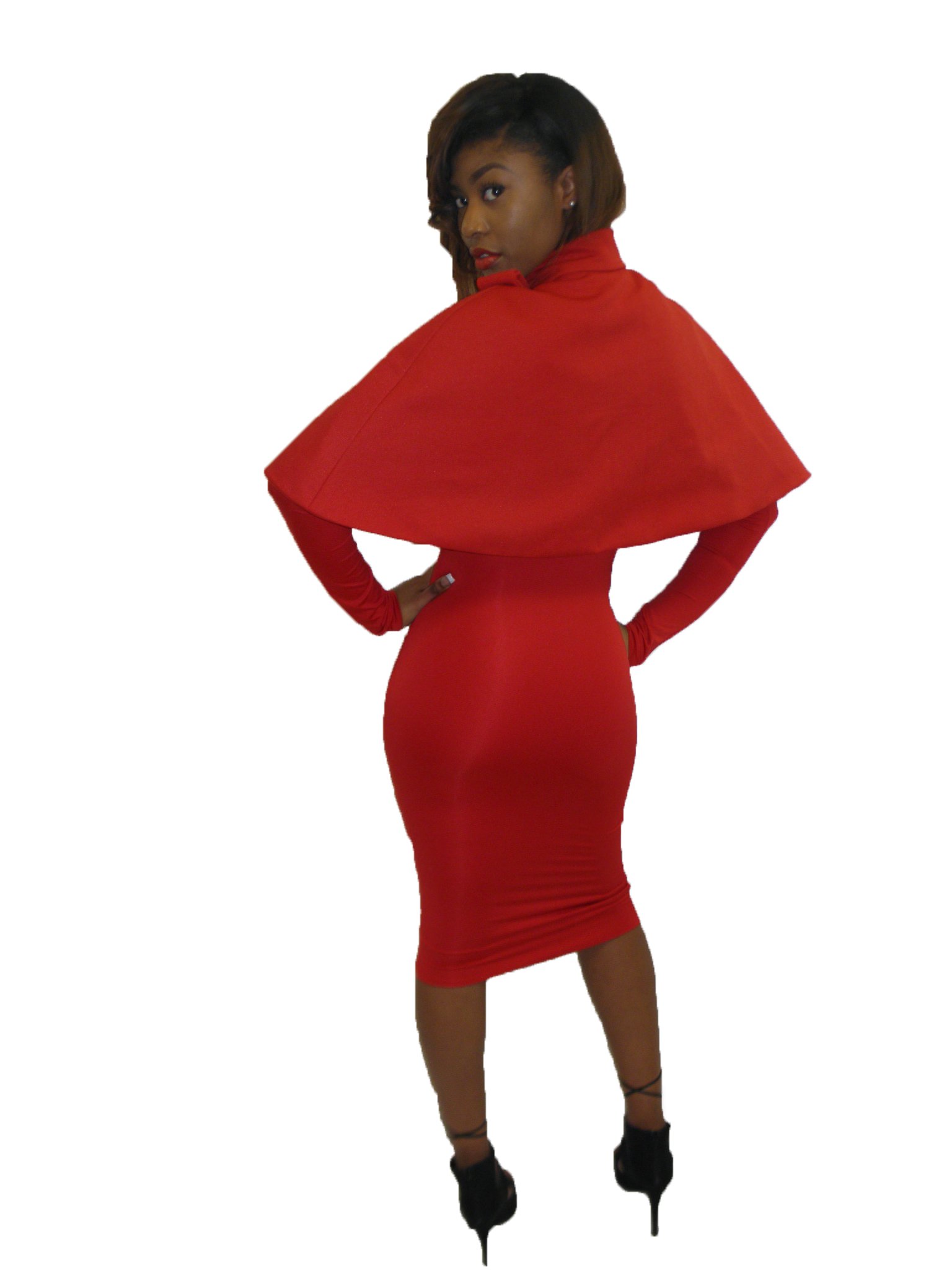 Red  Shoulder Cape