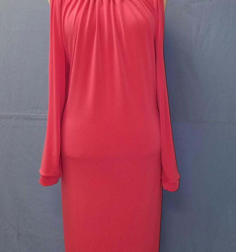 Opened Shoulder Loose Dress