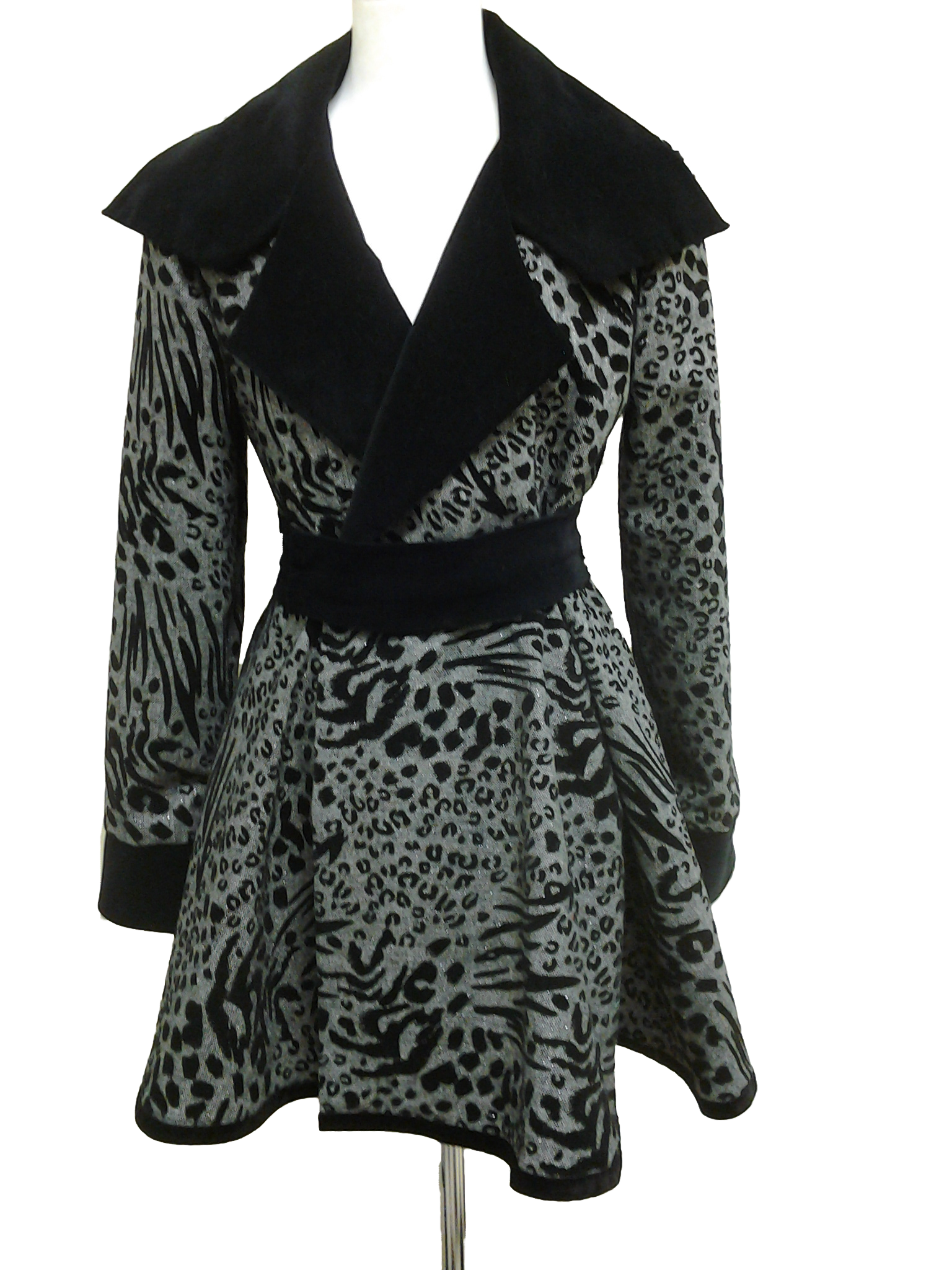 Leopard Swing Coat