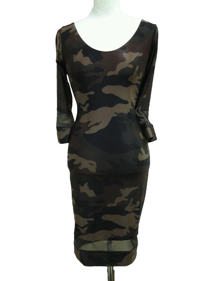 Army Green Camo Dress