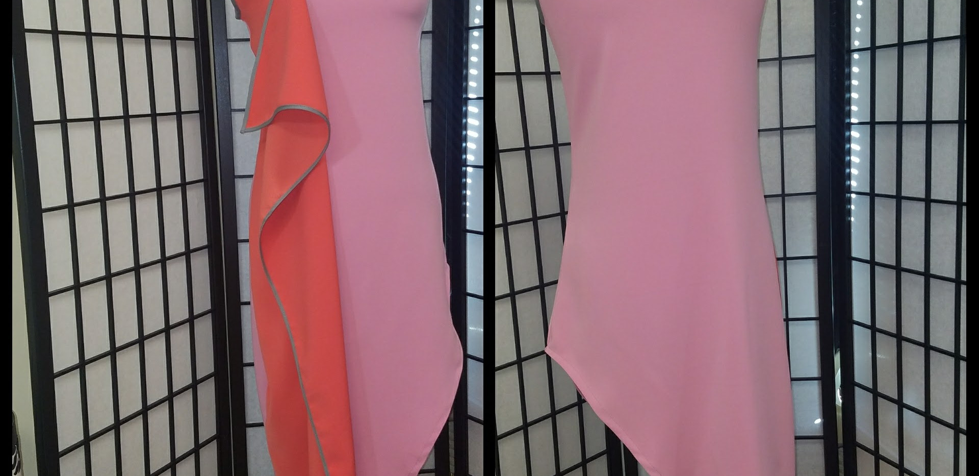 Twotoned flap front dress