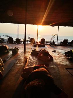 sunset restorative yoga