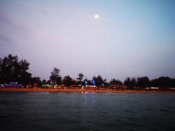 Patnem beach from the water