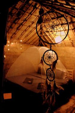 Inside your hut