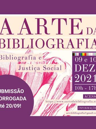 Submissão prorrogada! VIII A Arte da Bibliografia receberá resumo expandido até 20/09!