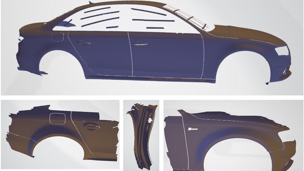 Wide-arch design data - Audi B8/B8.5 A4/S4