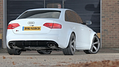 custom rear diffuser audi b8 a4 s4 painted gloss black. Black Bedroom Furniture Sets. Home Design Ideas
