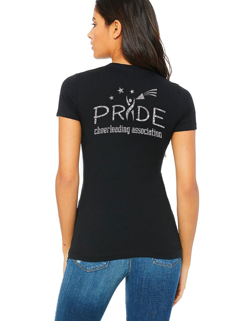 Ladies SS Tee Back - Glitter Logo $30.00