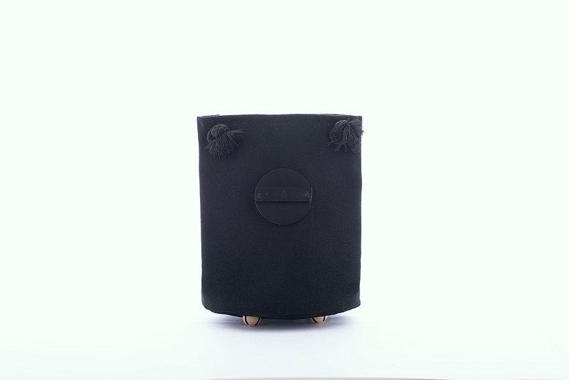 Island Workbench Circle canvas bag 長洲 皮 皮革 帆布 black 黑 色 圓筒 小 circle cheung chau