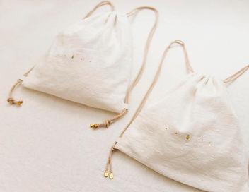 索繩袋 bucket bag 麻布 linen 島中坊研 Island Workbench bag 袋 長洲 Cheung chau handmade 手作 手製 gold silver 金 銀