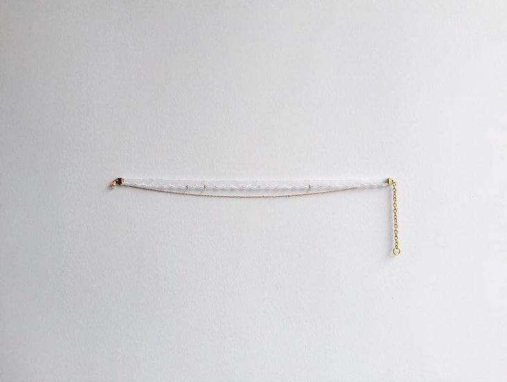 Choker white 頸鏈 Necklace girl 少女 lady 女士 首飾