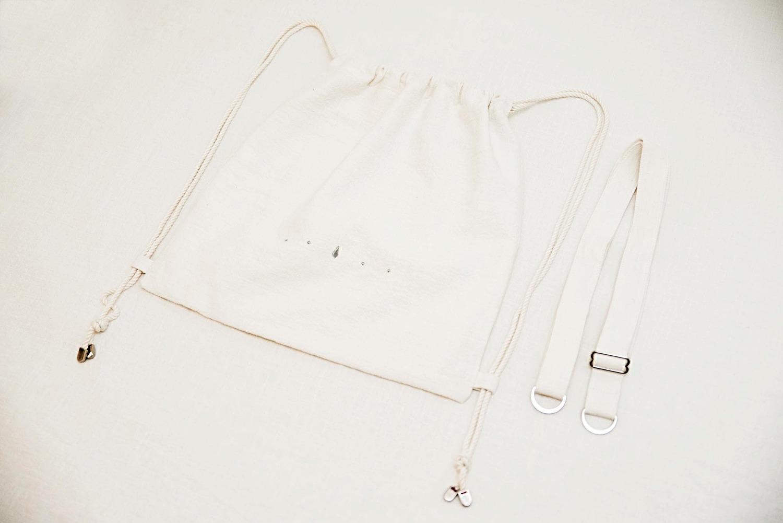 島中坊研:優質全麻布 - 銀車花 兩用索繩袋