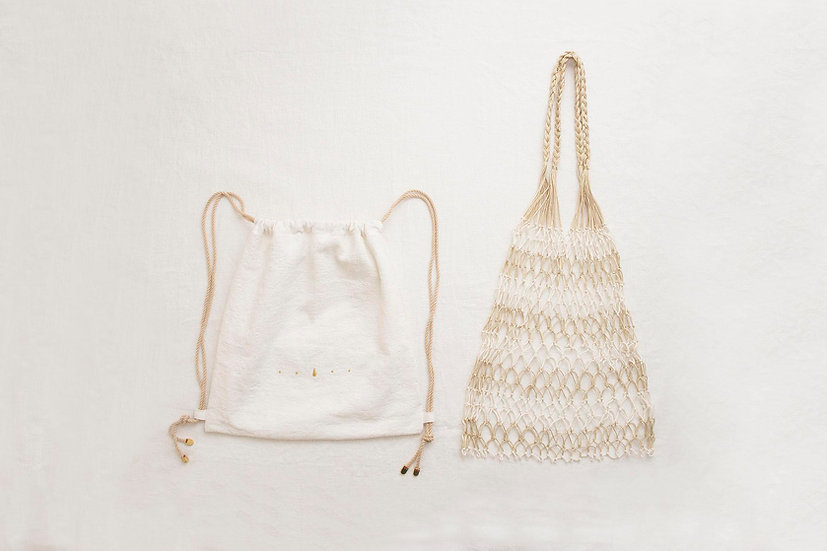 索繩袋配漁網袋套裝