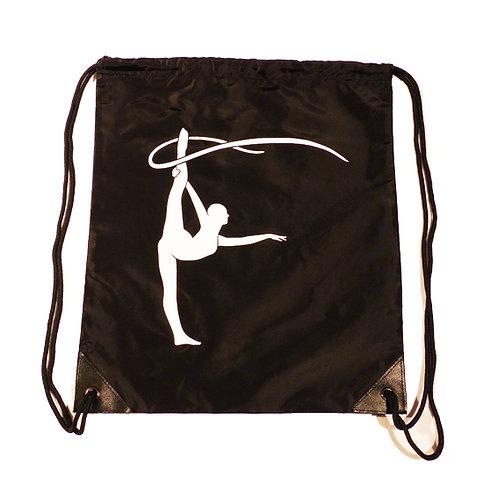 Sac au dos noir en nylon avec danseuse