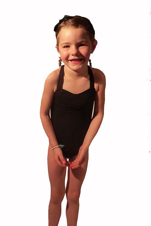 Léotard noir pour enfant à bretelles larges