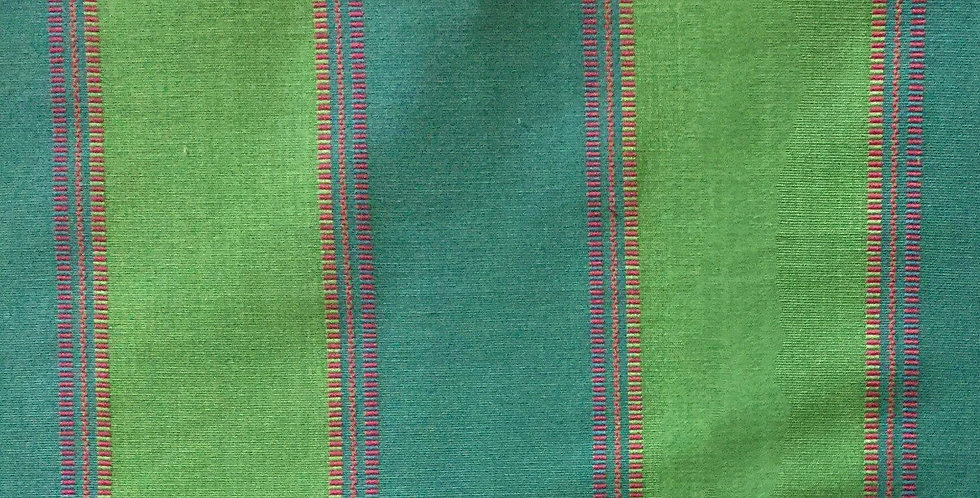 Embroidered Stripe - Blue/Green