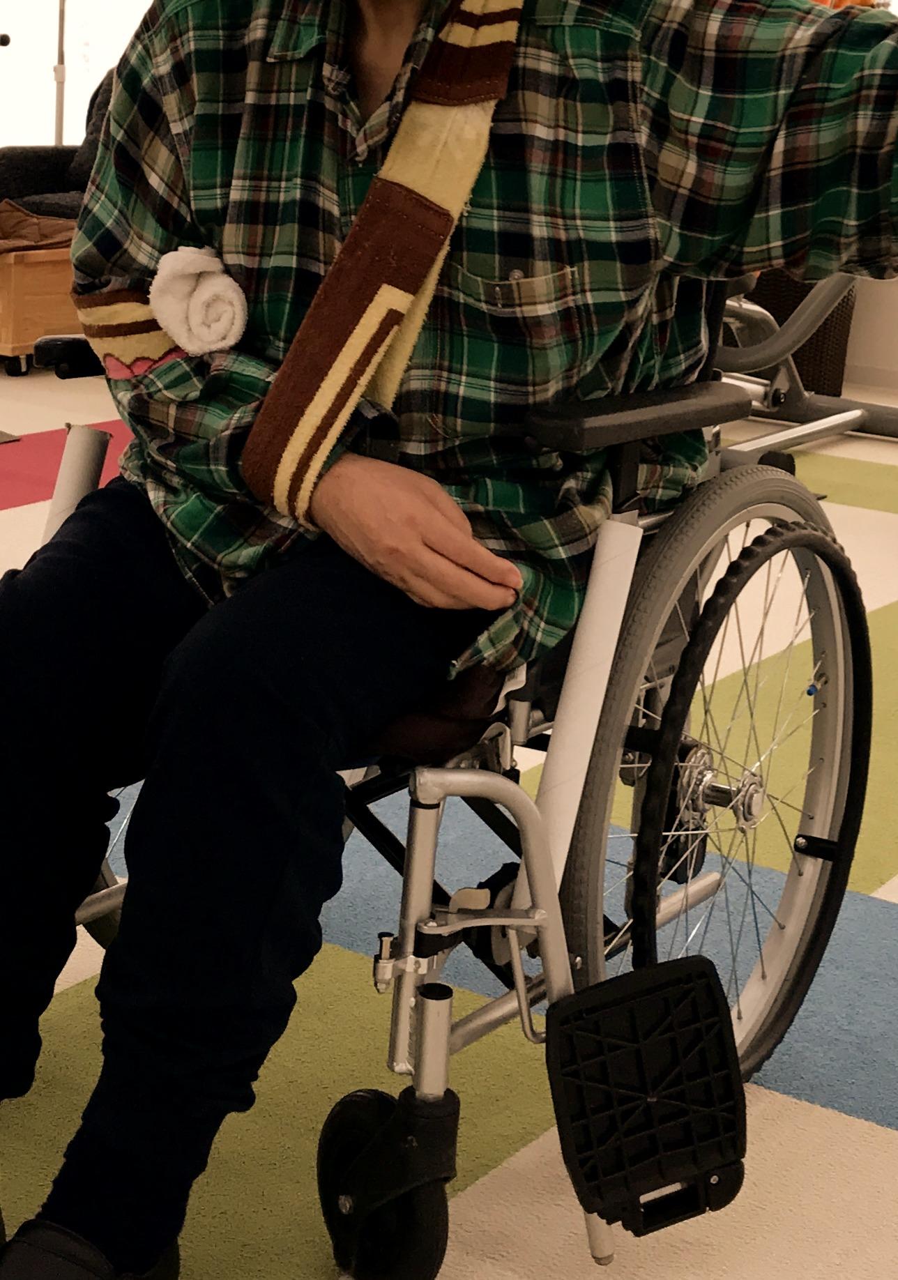 車椅子のままでも治療とリハビリができます