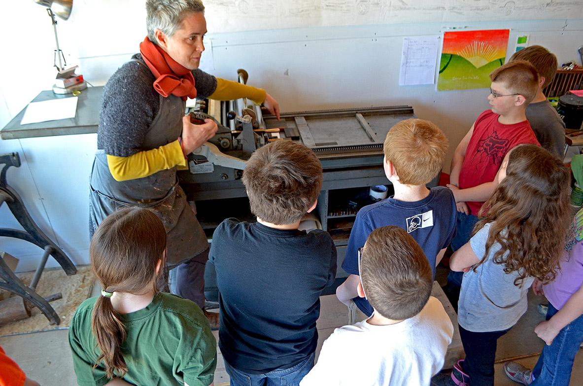 Anna Hepler letterpress lesson