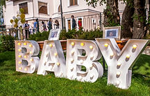 Litere luminoase de inchiriat botez BABY- Boutique de Litere
