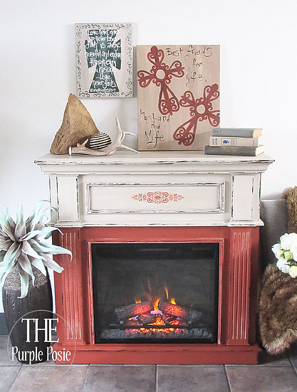 Rustic Boho Faux Fireplace