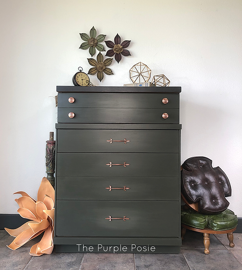 Elegant Tall Green Dresser