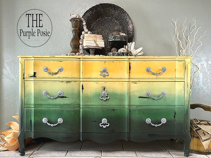 Yellow and Green Boho Buffet