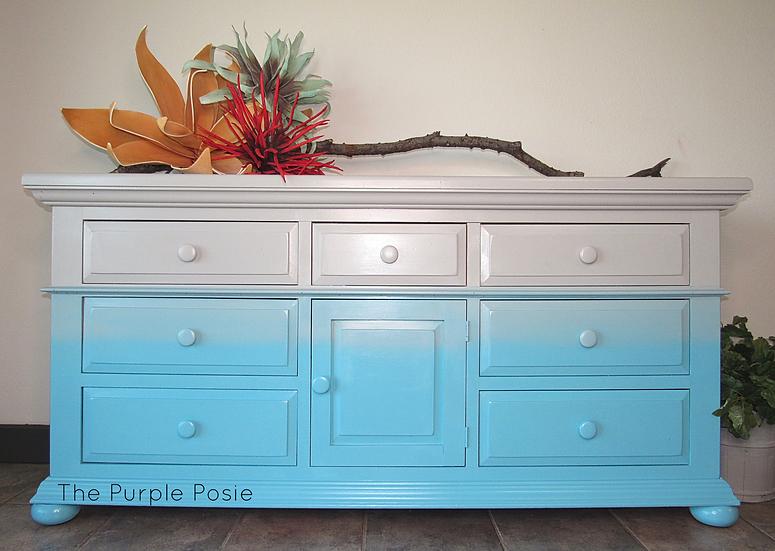 Turquoise Ombré Dresser