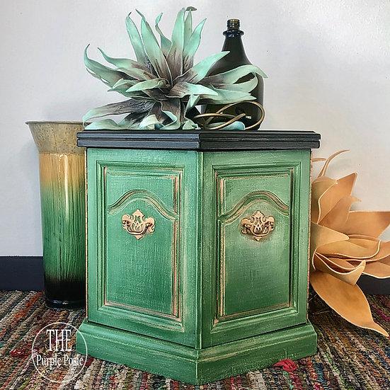 Green Vintage Nightstand