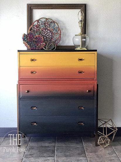 Mid Century Modern Boho Blended Dresser