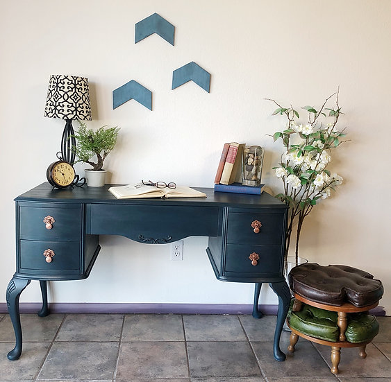 Midnight Blue Desk