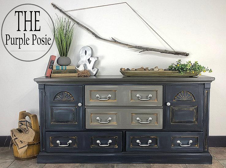 Blue & Gray Rustic Dresser
