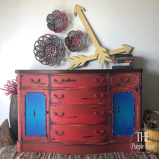 Red and Blue Boho Buffet
