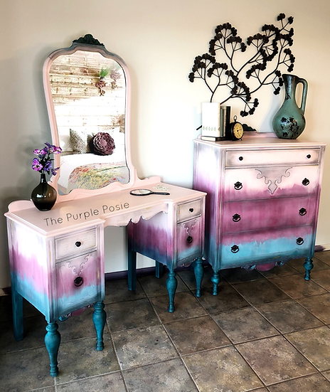 Antique Vanity and Dresser Set