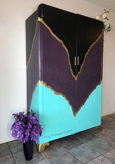 Boho Purple and Teal Wardrobe