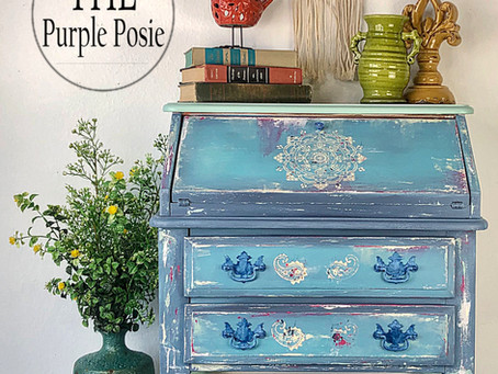 How to Paint Boho Style Using Dixie Belle Paint and Silkscreen Stencils