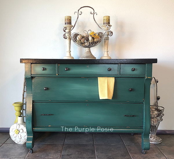 Antique Buffet with an Elegant Blended Finish