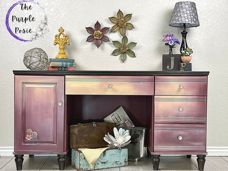 Boho Desk Makeover with Dixie Belle Paint and Woodubend Mouldings