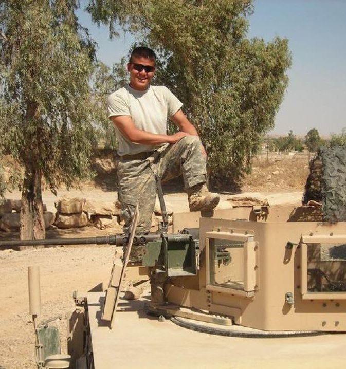 Me (Ben Longoria) setting up my .50 cal machine gun in preparation for a mission in Mosul, Iraq (2007).