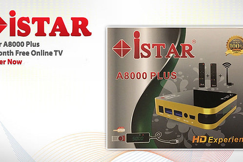 Istar A8000 Plus with 6 Months Free Online TV
