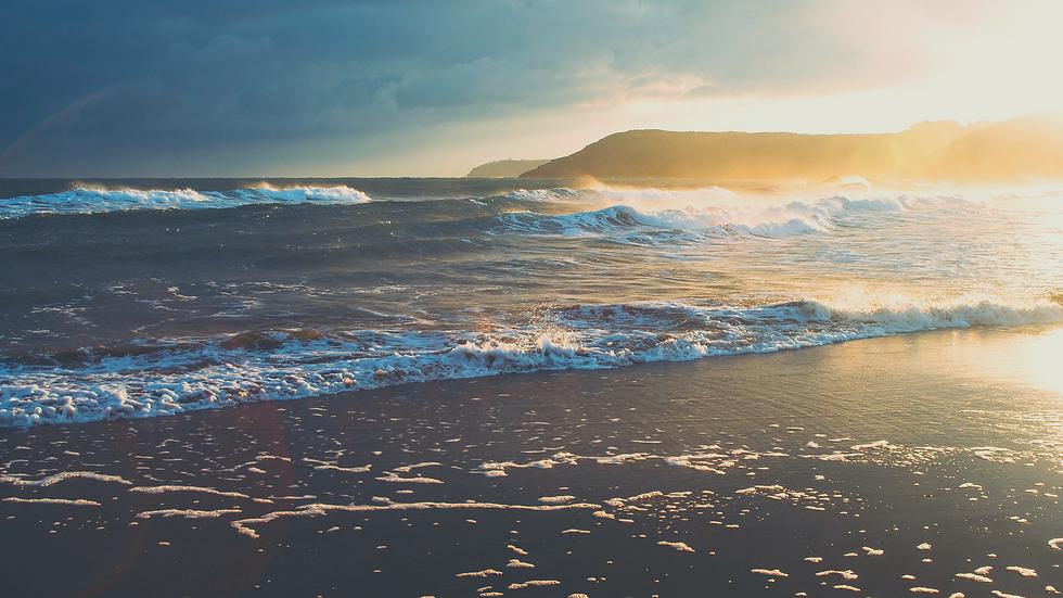 Sunset Photo of the Ocean Beach Desktop