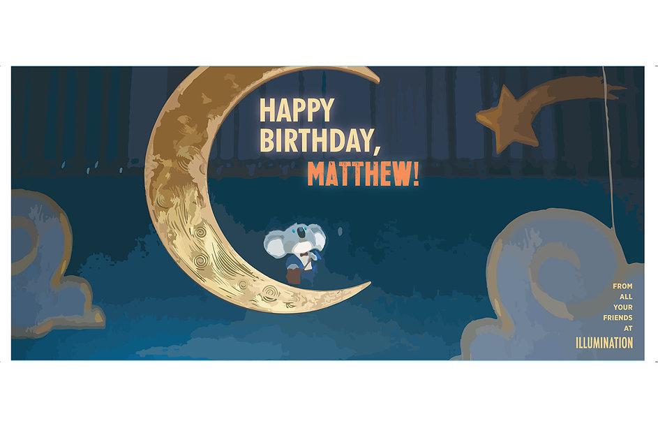 Print Design Happy Birthday Card
