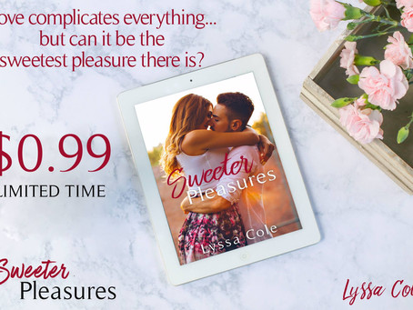 Sweeter Pleasures is ON SALE!! Happy Labor Day!!