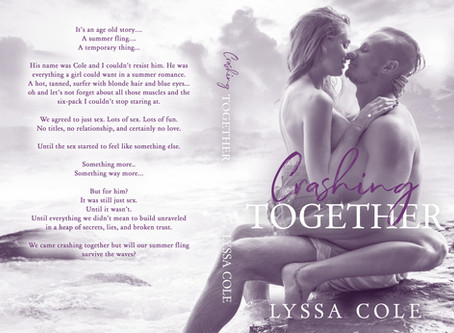 Cover Reveal for Crashing Together, plus giveaways!! & New chapters of Twisted Fate are out!