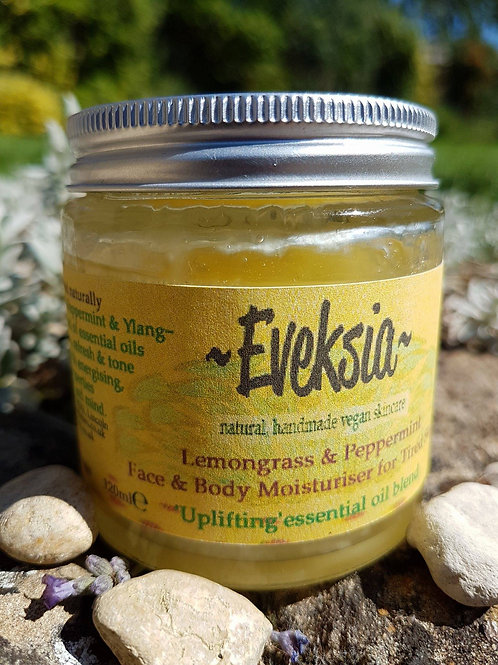 Lemongrass & Peppermint Face and Body Moisturiser (Uplifting Blend)