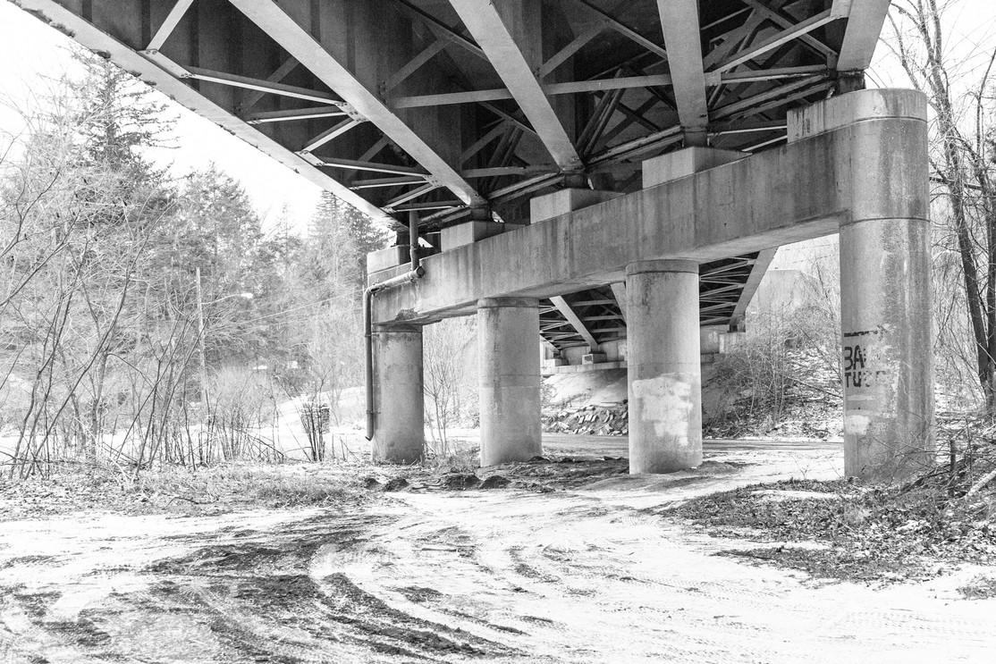 New Snow Under the Bridge