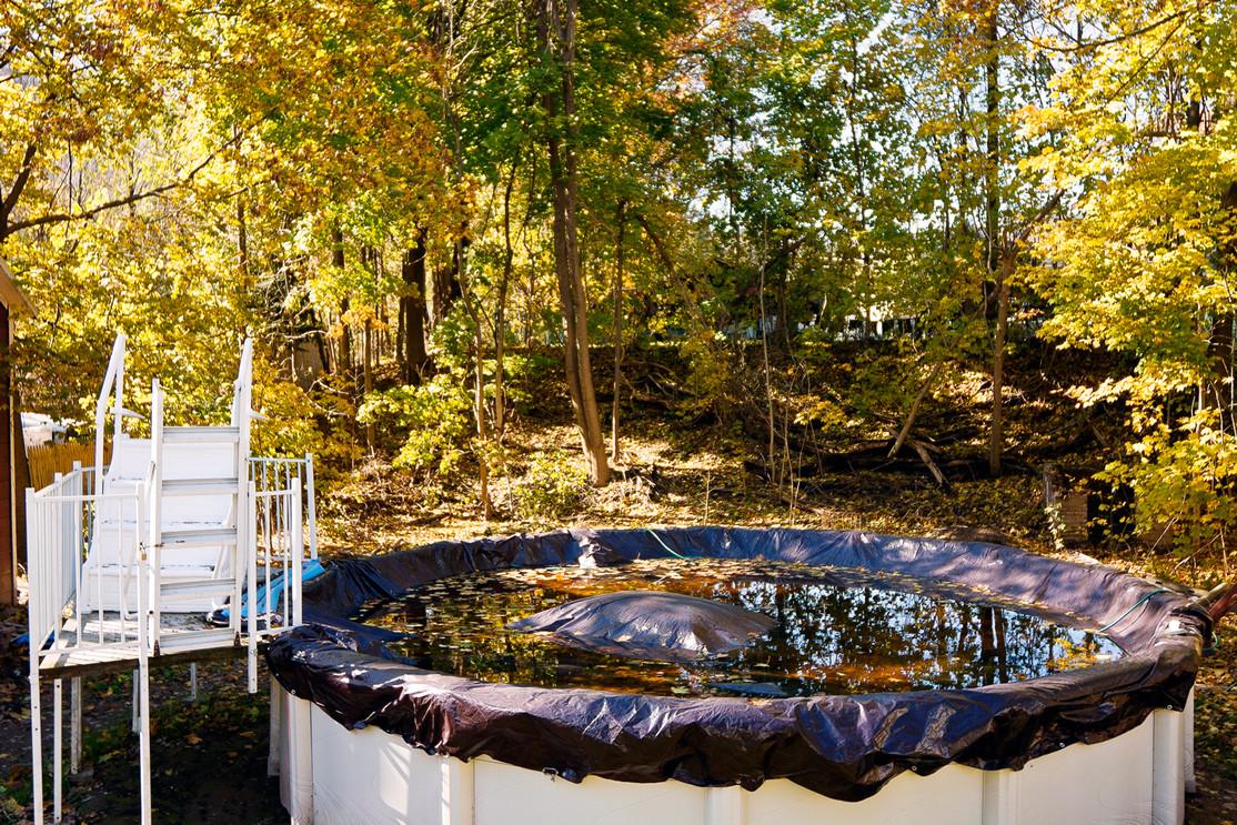 Covered Pool in November