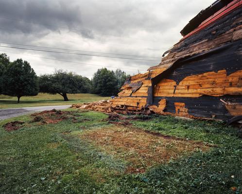 Collapsing Dairy Barn