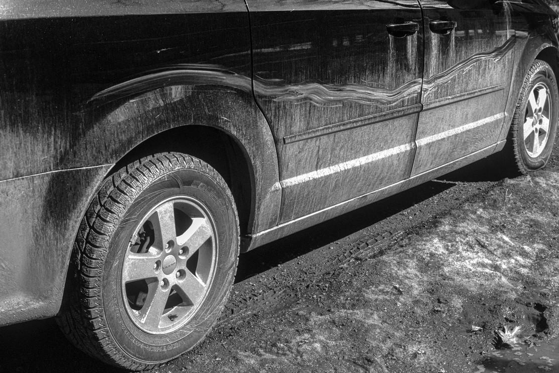 Muddy Minivan