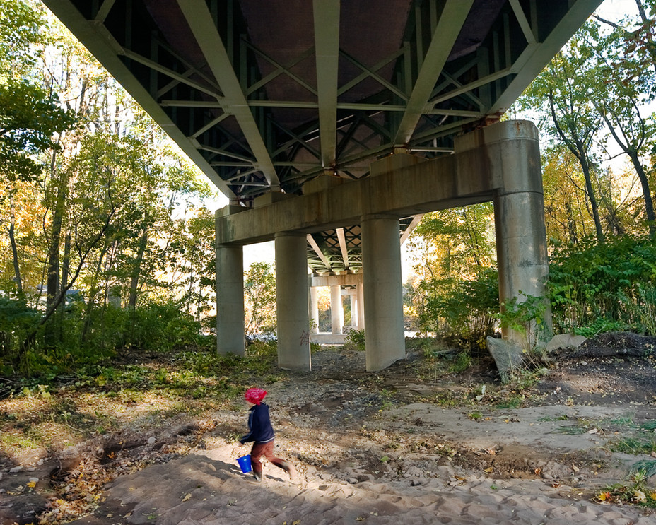 Playing Under the Bridge by the Esopus