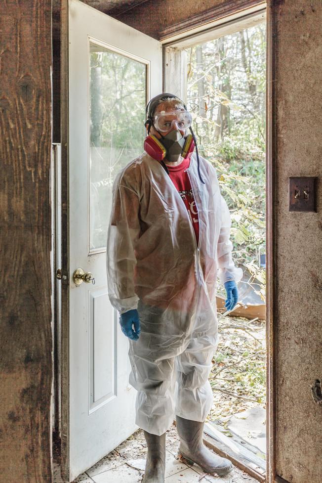Self-Portrait in Doorway